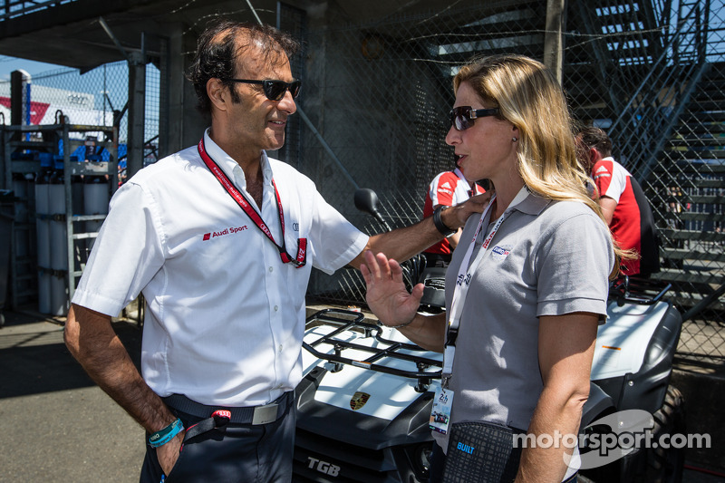 Emanuele Pirro and Liz Halliday