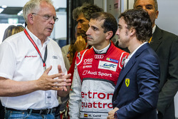 Volkswagen Group Audi Chief Technical Officer Dr. Ulrich Hackenberg, Marc Gene and Fernando Alonso