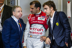 Jean Todt, Marc Gene and Fernando Alonso