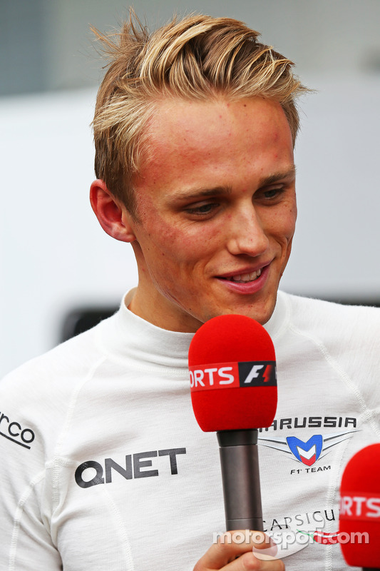 Max Chilton, Marussia F1 Team, com a Sky Sports F1 TV