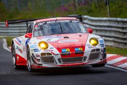 #6 Frikadelli Racing Takımı Porsche 997 GT3 R: Klaus Abbelen, Sabine Schmitz, Patrick Huisman, Patri