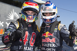 Race winner Jamie Whincup and second place Craig Lowndes