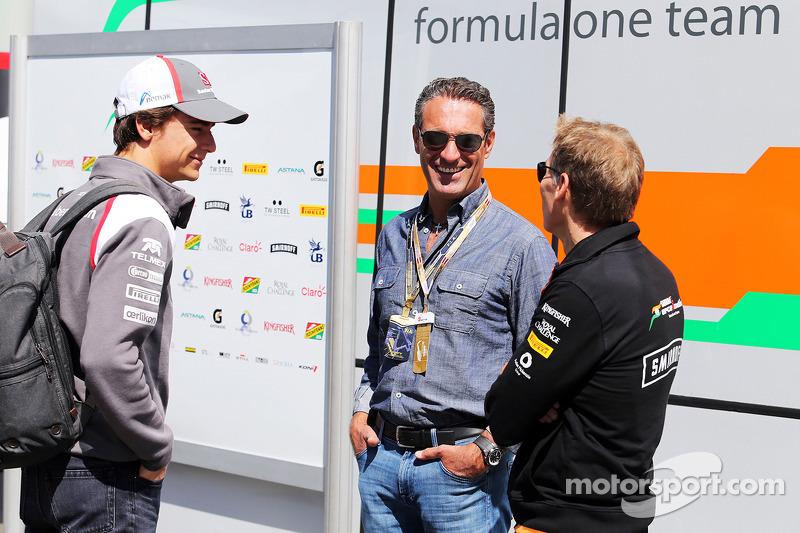 Esteban Gutierrez, Sauber ve Carlos Slim Domit, İşadamı (Orta)