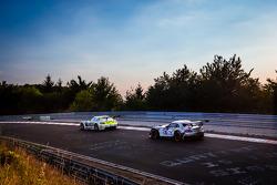 #15 HTP Motorsport Mercedes-Benz SLS AMG GT3: Harold Primat, Maximilian Götz, Kenneth Heyer, Roland Rehfeld ; #25 Marc VDS Racing BMW Z4 GT3: Maxime Martin, Jörg Müller, Uwe Alzen, Marco Wittmann