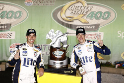 Race winner Brad Keselowski with crew chief Paul Wolfe
