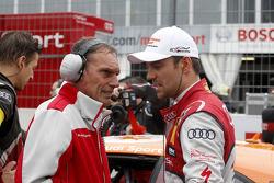 Jamie Green, Audi Sport Team Abt Sportsline Audi RS 5 DTM with his engineer