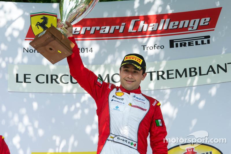 TP podio: vincitore della gara Ricardo Perez