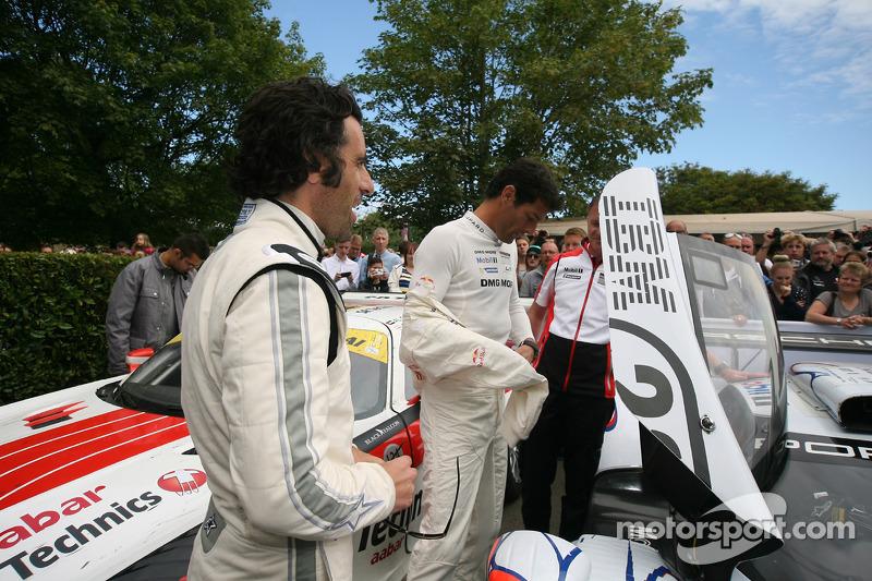 Dario Franchitti and Mark Webber