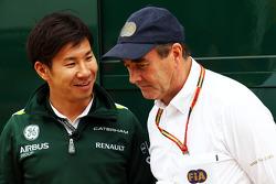 (Soldan Sağa): Kamui Kobayashi, Caterham ve Nigel Mansell, FIA Steward