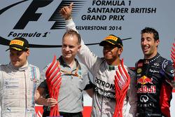 Valtteri Bottas, Williams F1 Team, Lewis Hamilton, Mercedes AMG F1 Team Daniel Ricciardo, Red Bull Racing
