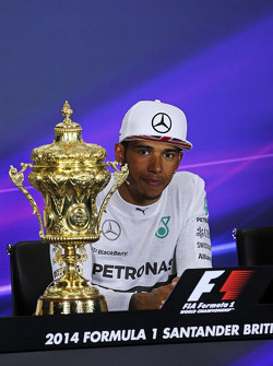 Race winner Lewis Hamilton, Mercedes AMG F1 in the FIA Press Conference