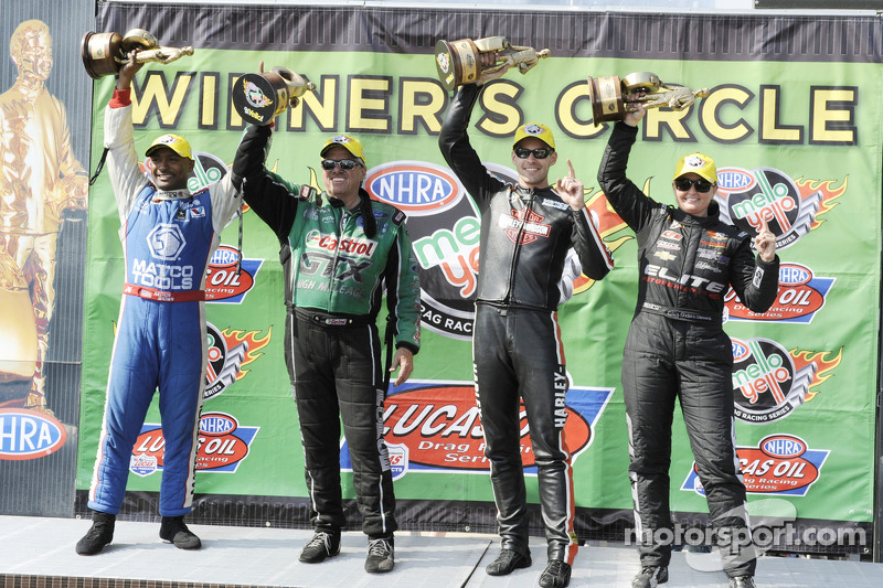 Antron Brown, Erica Enders, Andrew Hines et Troy Coughlin