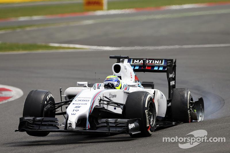 Felipe Massa, Williams FW36 ve patlak lastik