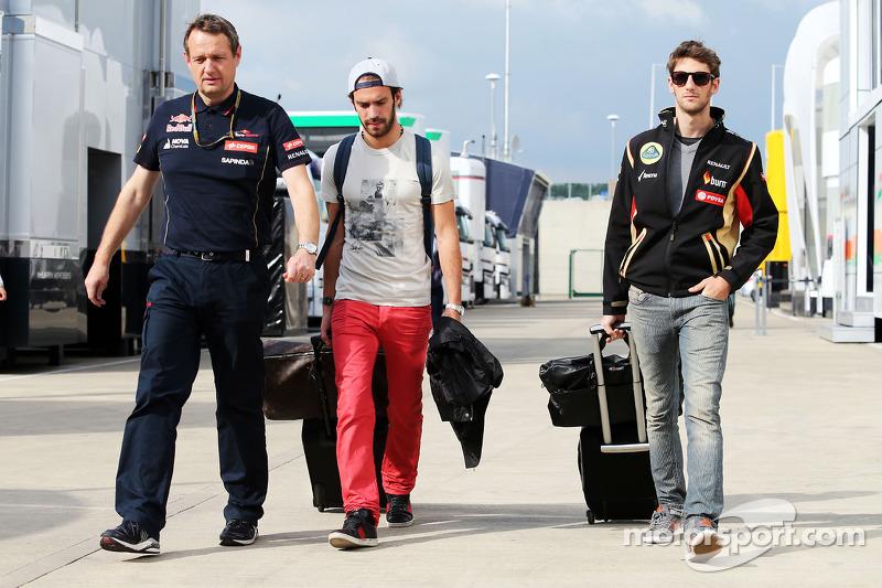 Jean-Eric Vergne, Scuderia Toro Rosso e Romain Grosjean, Lotus F1 Team
