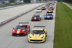 Start: Emmanuel Anassis and Doug Peterson lead the field