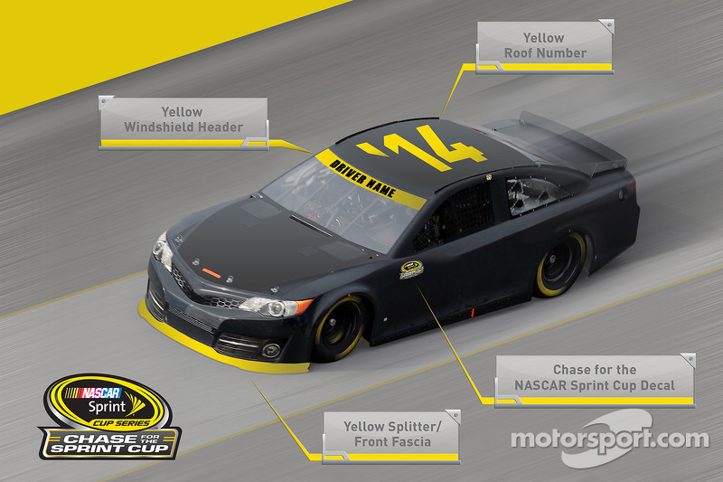Chase car paint scheme mandatory decaling