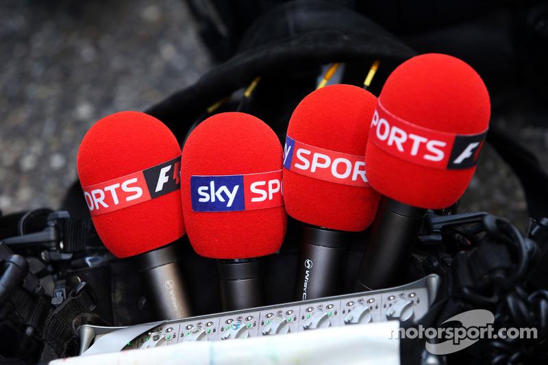 Sky Sports F1, microfoni