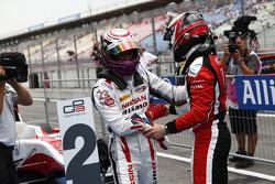 Race winner Jann Mardenborough and second place Dino Zamparelli