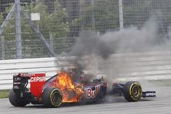 Daniil Kvyat victime d'un incendie