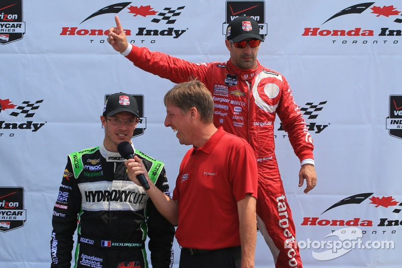 Tony Kanaan, Chip Ganassi Racing Chevrolet and Sébastien Bourdais, KVSH Racing Chevrolet