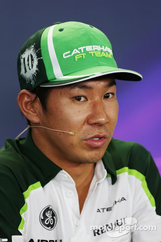 卡特汉姆F1车队的小林可梦伟在FIA新闻发布会上