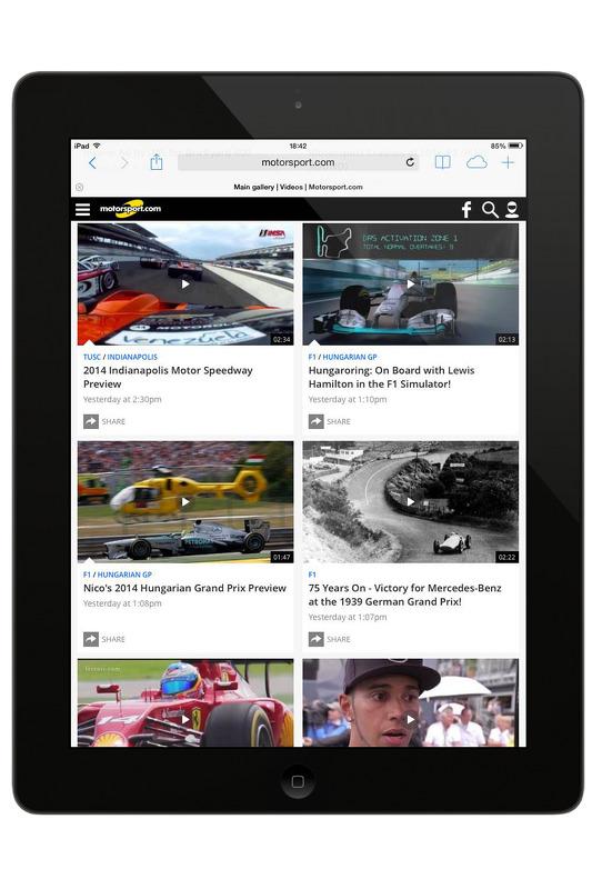 Motorsport.com网站第五代预览