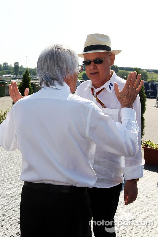 Bernie Ecclestone; Peter Gerstl, Hungaroring