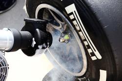 Red Bull Racing RB10 Neumático Pirelli rociada con hielo seco