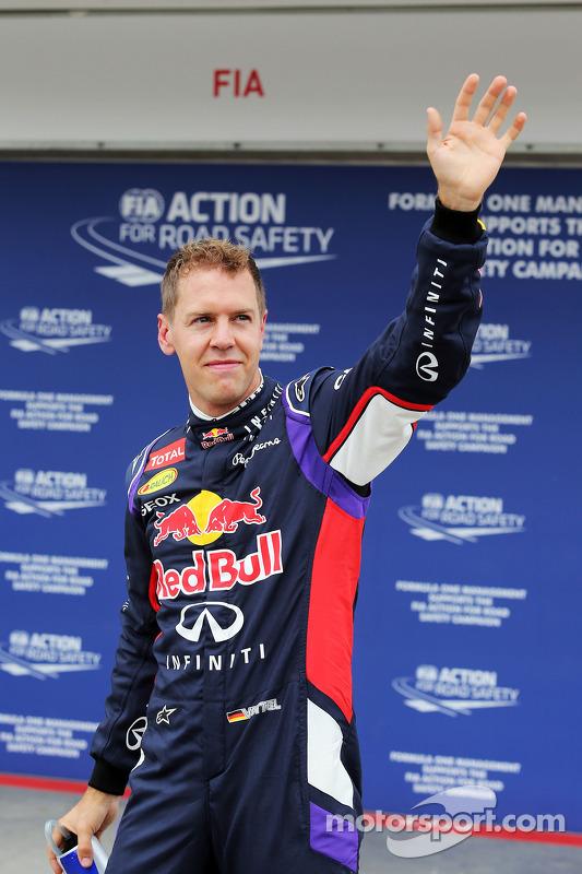 Parc Ferme: Sebastian Vettel, Red Bull Racing