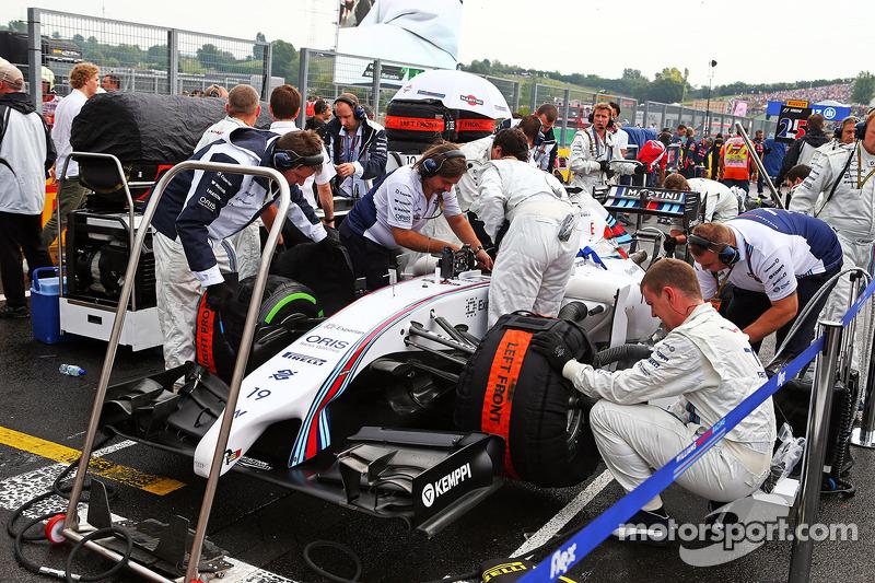 Felipe Massa, Williams FW36 gridde.
