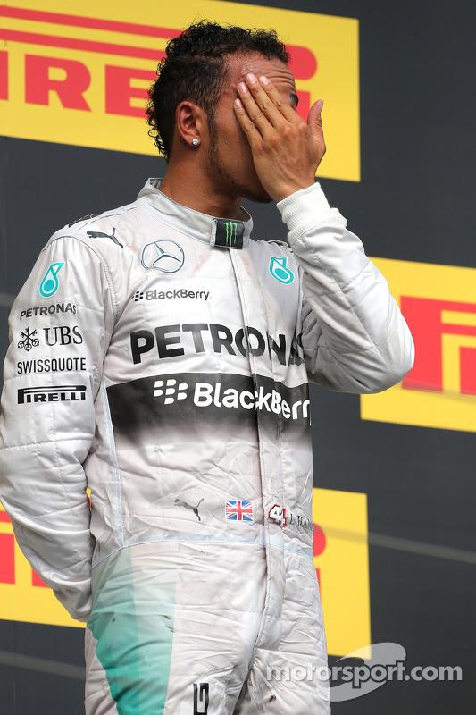 Podium: Lewis Hamilton, Mercedes AMG F1 Team