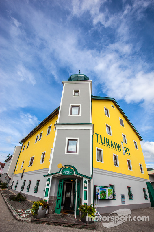 A traditional Austrian hotel