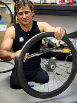 BMW works driver Alessandro Zanardi takes up the triathlon