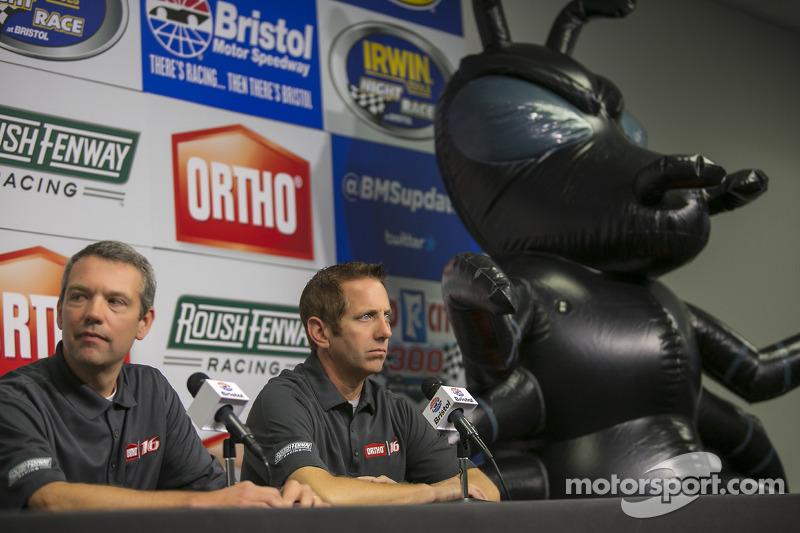 Greg Biffle, Roush Fenway Racing Ford yeni sponsorları Ortho'yu duyurdu