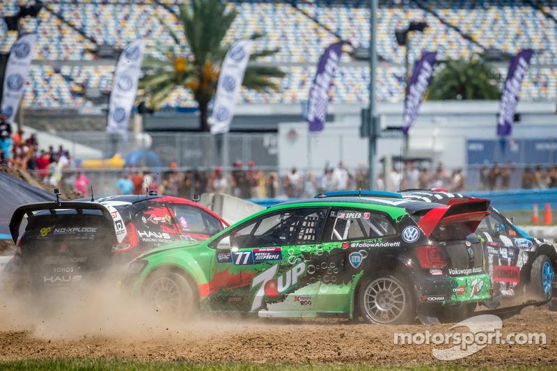 Via: #43 Hoonigan Racing Division Ford Fiesta ST: Ken Block, #07 SH Racing Rallycross Ford Fiesta ST