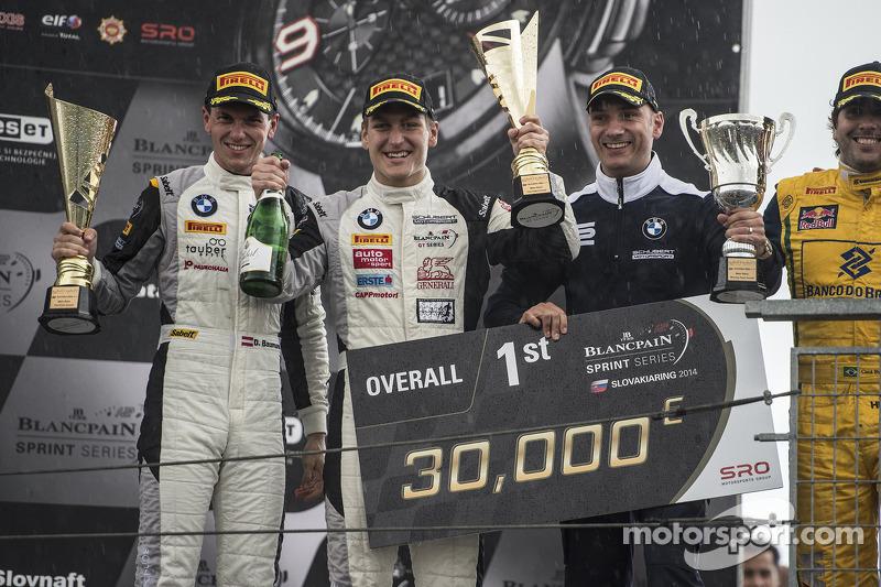 Vencedores da corrida Dominik Baumann e Thomas Jäger