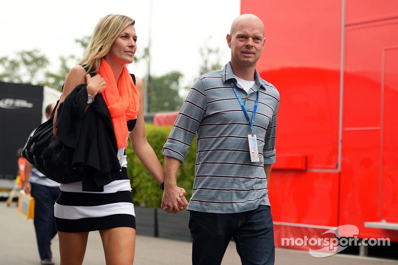 Jan Magnussen mit Ehefrau Christina