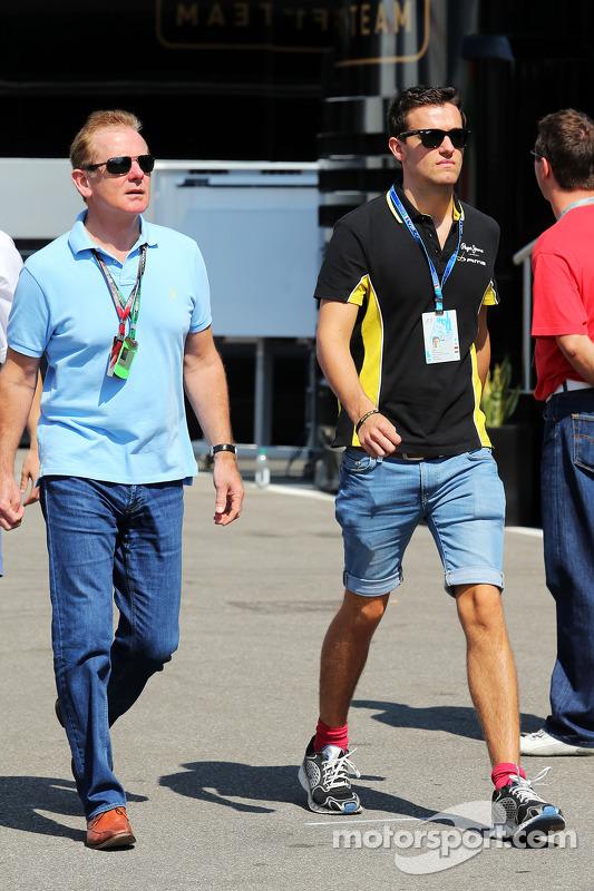 Jonathan Palmer, con su hijo Jolyon Palmer, Piloto GP2