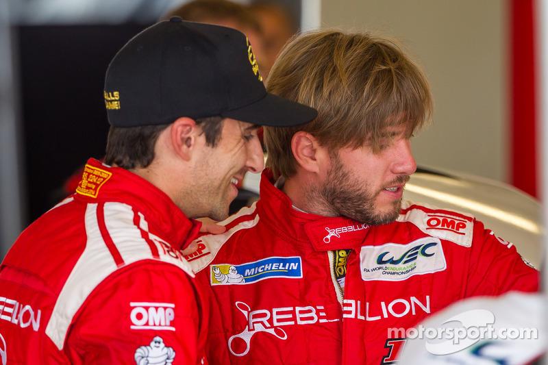 Rebellion Racing drivers Nicolas Prost and Nick Heidfeld friendly after Beijing incident