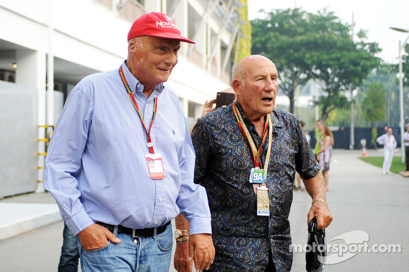 Niki Lauda und Stirling Moss