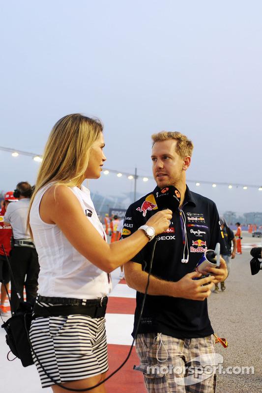 Sebastian Vettel lors de la parade des pilotes