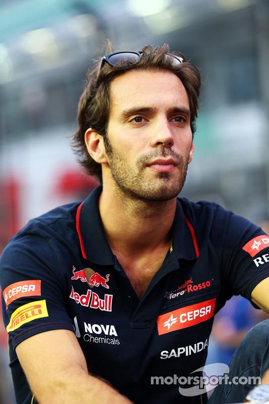 Jean-Eric Vergne, Scuderia Toro Rosso alla parata dei piloti