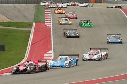 起步: #42 OAK车队Ligier HPD: Gustavo Yacaman, Alex Brundle ,领先