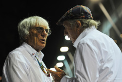 Bernie Ecclestone, with Jackie Stewart