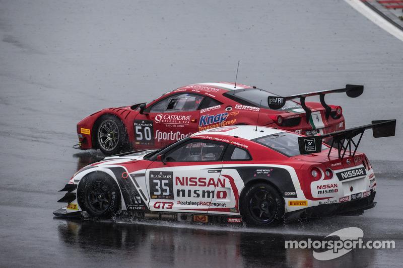 #35 日产 GT学院车队 日产 GT-R Nismo GT3: 沃尔夫冈·赖普, 米盖尔·法伊斯卡, 千代胜正, #50 AF Corse 法拉利 458 Italia: 安德鲁·丹尼利韦, 西蒙·