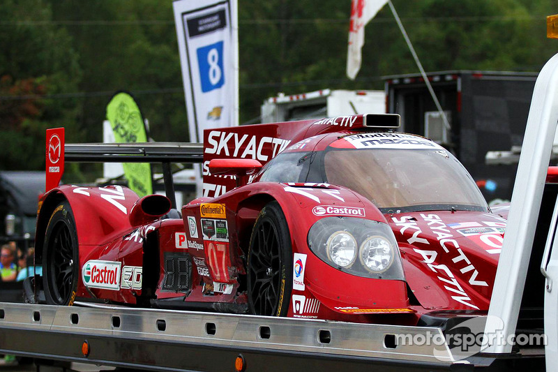 Hasarlı #07 SpeedSource Mazda Prototip: Joel Miller, Tristan Nunez, Tristan Vautier