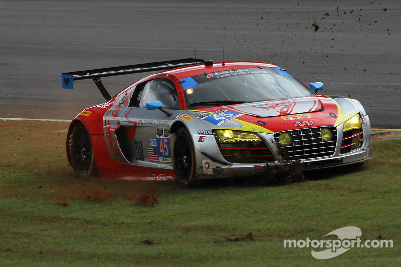 Problemi per # 45 Flying Lizard Motorsports Audi R8 LMS: Nelson Canache, Spencer Pumpelly, Andrew Palmer