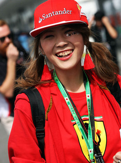 Un fan di Kimi Raikkonen, Ferrari