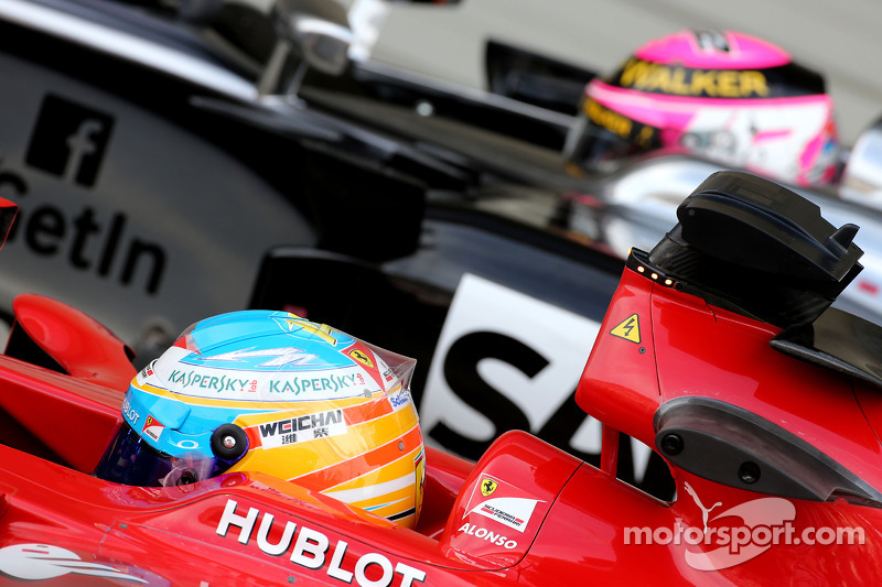 Fernando Alonso, Scuderia Ferrari ve Jenson Button, McLaren F1 Takımı