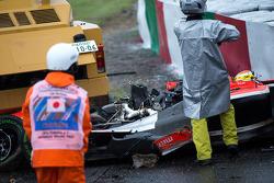 Addetti alla sicurezza al lavoro dopo l'incidente di Jules Bianchi, Marussia F1 Team